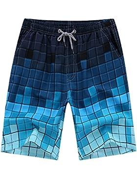 Isuper Bañador,Bañadores de Hombre,Secado Rápido Bañadores,Pantalones Cortos de Natación para Surf Playa Verano...