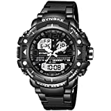 Hot Selling! YANG-YI SYNOKE Men's Multi Function Military Sports Watch LED Digital Dual Movement Watch - B07H7N7GD4