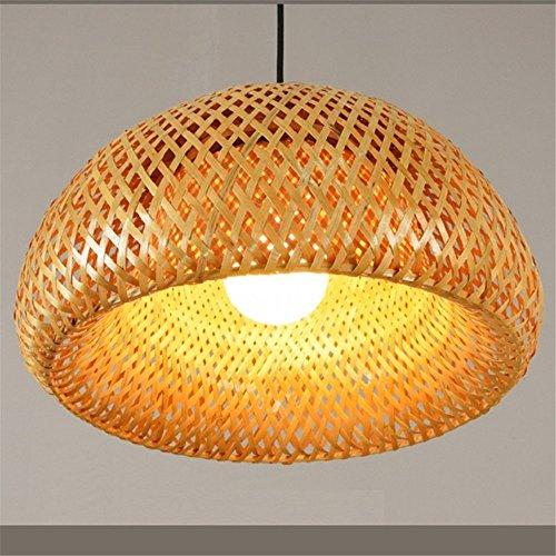 Joeyhome La moderna obra de bambú bambú tejida a mano lámpara colgante lámpara colgante de buen precio con cortinas de bambú para el comedor,Cable negro