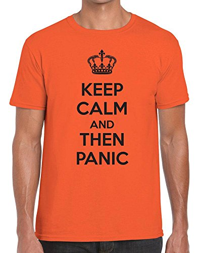Funky NE Ltd Keep Calm and Then Panic - Carry On - Tshirt - 100% Cotton - Small to XXL - 15 Colours - Great Gift Idea by