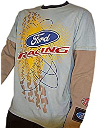 OMSE T-Shirt à Manches Longues pour Homme Ford Fiesta Extreme Rally Cross  Bleu Gris 5372632a585f