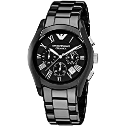 Emporio Armani Men's AR1400 Emporio Black Ceramic Watch