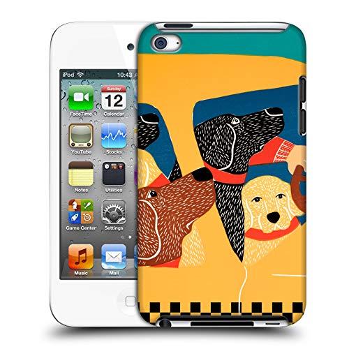 Head Case Designs Offizielle Stephen Huneck Das Satz-Instinkt-Taxi Hund-Gruppe Harte Rueckseiten Huelle kompatibel mit Apple iPod Touch 4G 4th Gen Pac Ipod