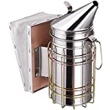 Electomania Bee Smoker Stainless Steel Large Size Airflow Bellow and Excellent Smoke Output Bee Hive Smoker Beekeeping Equipment