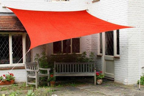 Tende A Vela Impermeabili.Primrose Tende A Vela Kookaburra Quadrata 5 4m Rosso Tessuto