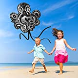aGreatLife Black Octopus Kite: Best Kite for Kids - Ideal Kite for Memorable Summer Fun, for Outdoor Games and Activities - Perfect Beginner Kites for Kids As It Is Easy to Assemble, Fly and Launch