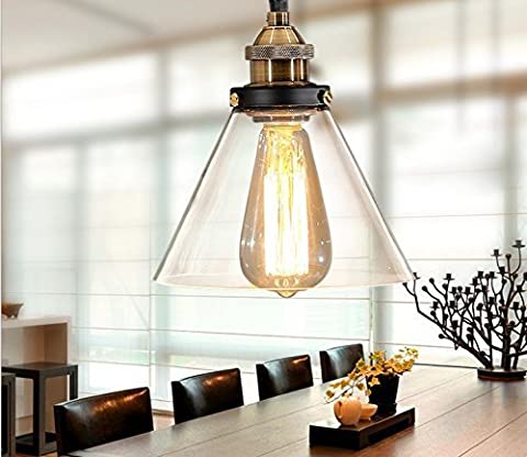 Unimall Vintage Clear Glass Pendent Kitchen Light Shade Industrial Light