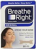 Breathe Right Nasal Strips, Groß, Tan, 30 ct