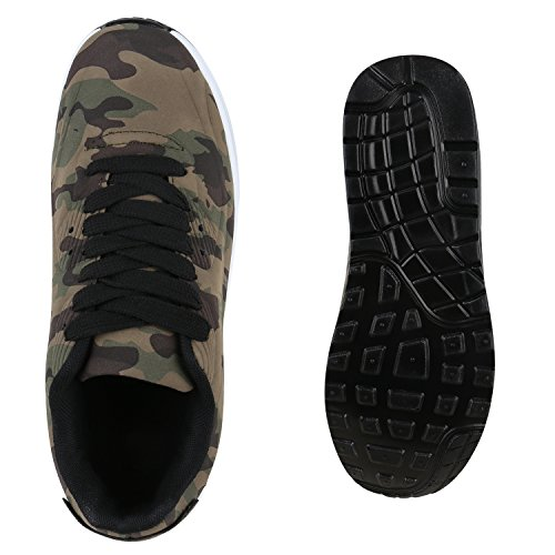 Trendige Unisex Damen Herren Kinder Laufschuhe Schnür Sneaker Sport Fitness Turnschuhe Camouflage