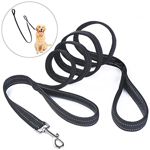 double-handle-dog-lead-petbaba-200cm-66ft-long-reflective-padded-heavy-duty-nylon-training-dog-leash