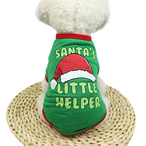 (Dragon868 Hund Pullover Warm Weihnachten Hund Kleidung Elastische T-Shirt Welpenkostüm XS-XL)
