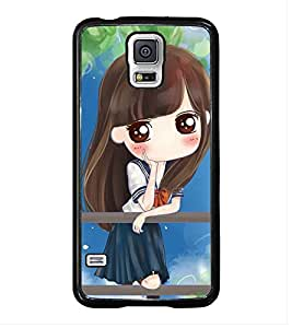 Fuson Premium 2D Back Case Cover cute baby waiting With Multi Background Degined For Samsung Galaxy S5 G900i::Samsung Galaxy S5 i9600::Samsung Galaxy S5 G900F