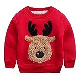 Kinder Jungen Weihnachtspullover Weihnachtspullis Dick Warme Pullover Sweatshirt Oberbekleidung Rot...