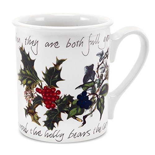 Portmeirion Holly and Ivy Breakfast Mug, Set of 6 by Portmeirion -