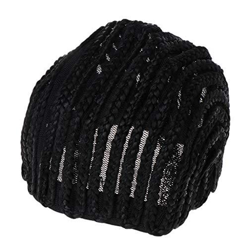 GROOMY Cornrow Perücke Haarnetz Crochet Cap Geflochtene Strick Mode Weben Einstellbare Mütze -