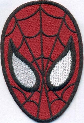 SPIDERMAN Spider-Man Maske Uniform Kostüm Aufbügler Bügelbild Aufnäher Patch
