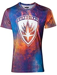 Guardians of the Galaxy T Shirt Symbol Logo offiziell Herren Allover Galaxy Sub