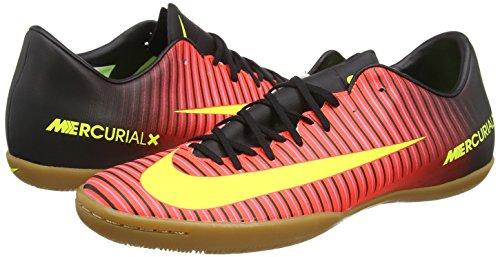 Nike Mercurialx Victory Vi Ic, Chaussures de Foot Homme Total Crimson/Volt-Black-Pink Blast
