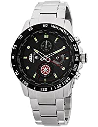 Burgmeister BMS01-121 - Reloj para hombres, correa de acero inoxidable color plateado
