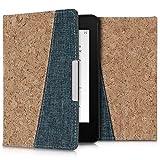 kwmobile Custodia per Amazon Kindle Paperwhite - Cover a Libro per eReader - Copertina Protettiva Flip Case Protezione per e-Book Reader in Tessuto e Sughero