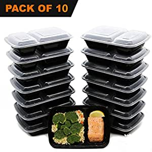 Ruitong 992,2gram Meal Prep Containers 10Pack 2vano perdita resistente recipiente per microonde e lavastoviglie e freezer Bento box