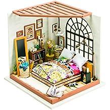 DIY Casa de Muñecas Miniatura Dormitorio Puzzle 3D