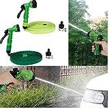 Oulensy 10M Gartenschlauch Gummi-Wasserschlauch Kunststoffschläuche Rohr mit Spritzpistole Bewässerung Car Wash-Spritzpistole