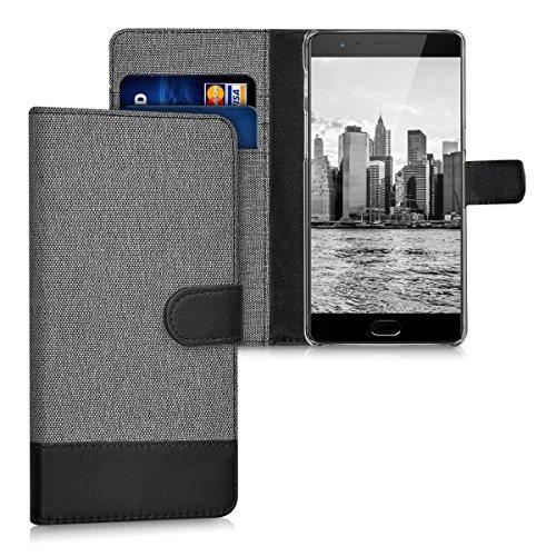 kwmobile OnePlus 3 / 3T Hülle - Kunstleder Wallet Case für OnePlus 3 / 3T mit Kartenfächern & Stand