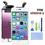 Ecran Lcd Display pour Iphone 6 Ecran Verre Tactile de Remplacement avec Kits d'Outils (blanc)