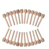 Fastar 24pcs Mini madera miel Dippers Sticks servidor de la miel Tarro de miel dispensar llovizna café leche té Remover Sticks 3 pulgadas