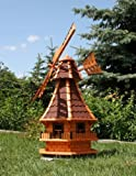 Large Windmill With Solar Power 1.30 m Red Type 6