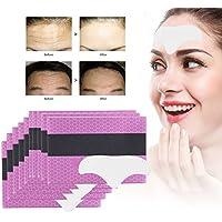 Facial Patch, 10 piezas Tiras de frente Gel de colágeno Anti-envejecimiento almohadillas hidratantes contra la frente arrugas facial plegables (Blanco)