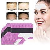10 Stück Stirn Anti Falten Pads, Skin Gesichtspads Collagen Gel Pad, Feuchtigkeitsspendende pads gegen Stirn Falten Linien Gesichtsfalten Augenfalten(weiß)