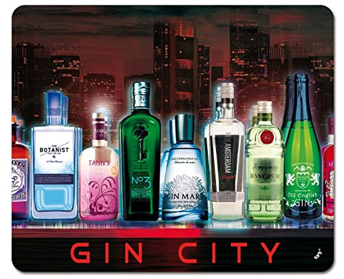 Preisvergleich Produktbild 1art1 102173 Bars - Gin City Mauspad 23 x 19 cm
