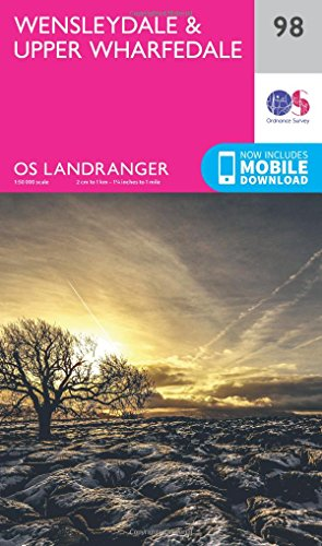 Price comparison product image Landranger (98) Wensleydale & Upper Wharfedale (OS Landranger Map)