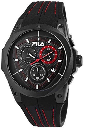 FILA Herren Analog Quarz Uhr mit Silikon Armband 38-821-004