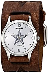 Nemesis Women's 355DBFSTS Vintage Star Series Analog Display Japanese Quartz Brown Watch