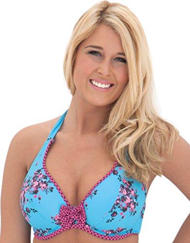 Curvy Kate Damen Bikinioberteil Blau - Topaz Floral