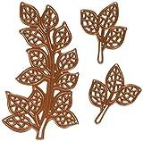 Finishing Touches Mosaik (3), Bronze, LRG. Blätter 10,2cm X 23/40,6cm SM. Leaves 113/40,6cm X 17/40,6cm