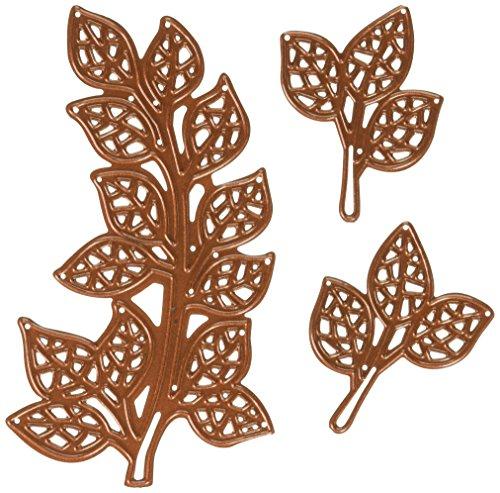 Bronze-gold Leaf (Finishing Touches Mosaik (3), Bronze, LRG. Blätter 10,2cm X 23/40,6cm SM. Leaves 113/40,6cm X 17/40,6cm)