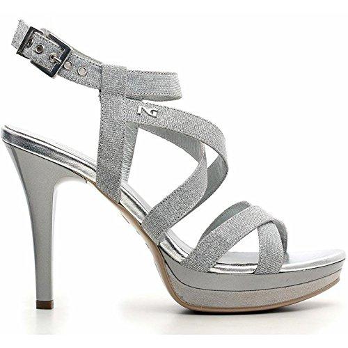 NERO GIARDINI donna sandali con tacco P615770DE/705 Argento