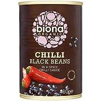 Biona Chile Orgánica Frijol Negro 410G (Paquete de 6)