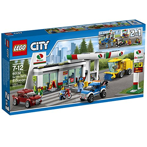 Preisvergleich Produktbild LEGO City Town 60132 Service Station Building Kit (515 Piece) by LEGO