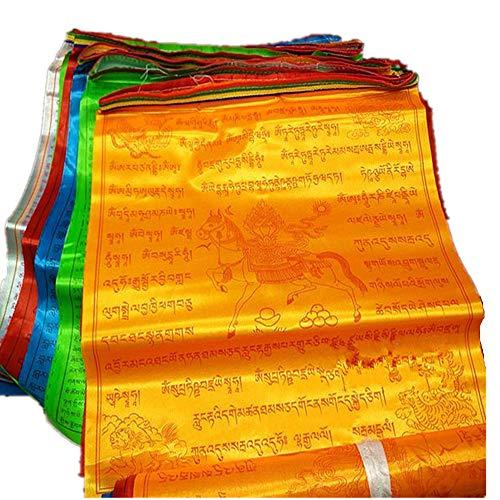 Dollbling bandiere di preghiera buddista tibetano 10scripture high-end silk wind horse bandiera 6.8meters 20pz/string ceremonial ronda bandiera religiosa