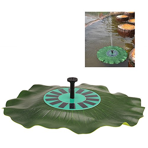 Decdeal Lotusblatt Solar Wasserpumpe Teichpumpe Springbrunnen Pumpe für Garten Dekoration