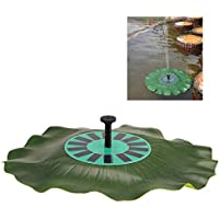 Anself Solar-potere del loto Fontana foglie galleggianti