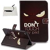 iPad Mini 4 Hülle Rot,TOCASO Mandala Handyhülle Flip Tasche Schutzhülle für iPad Mini 4 Leder Cover Wallet Case tasche Kartenfächer Shell Rückseite Pen-Weißer Leopard