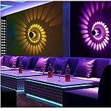 yjydada colores RGB en espiral agujero lámpara de pared superficie instalar LED luz de la lámpara de iluminación