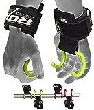RDX Zughilfen Haken Bodybuilding Handgelenkbandage Krafttraining Zughilfe Fitness Gewichtheben...