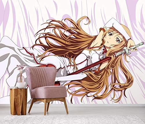 WYH-YW Fototapeten 3D Anime Sword Art Online Mural Wohnzimmer Schlafzimmer Büro Flur Dekoration Wandbilder Moderne Wanddeko Wallpaper 79